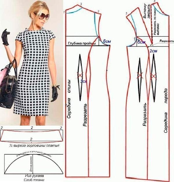 ec21f1e9dee Сколько ткани нужно на платье  Расход материала на платье-футляр