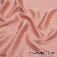 Плательная вискоза (о) розово-бежевая - итальянские ткани Тессутидея арт. 04-1391
