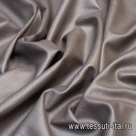 Искусственная кожа на флисовой основе (о) коричневая - итальянские ткани Тессутидея