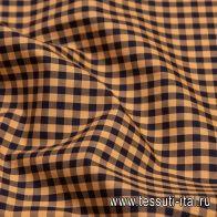 Сорочечная (н) сине-оранжевая клетка - итальянские ткани Тессутидея