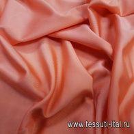 Джерси вискоза стрейч (о) коралловое - итальянские ткани Тессутидея