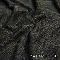 Джерси хлопок с люрексом (н) черно-зеленая гусиная лапка - итальянские ткани Тессутидея арт. 12-1021