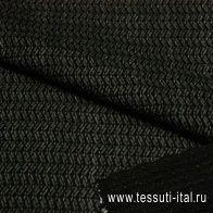 Жаккард (н) серо-черный - итальянские ткани Тессутидея арт. 03-3366