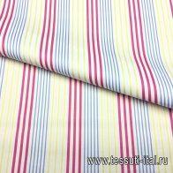 Лен (н) красно-желто-голубая полоска Etro - итальянские ткани Тессутидея арт. 01-3946