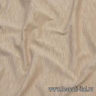 Трикотаж мерсеризованный хлопок (о) бежевый меланж - итальянские ткани Тессутидея