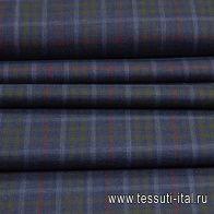 Костюмная (н) сине-красно-зеленая клетка - итальянские ткани Тессутидея арт. 05-4006
