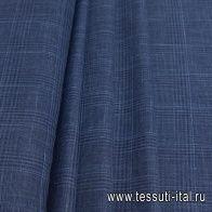 Костюмная (н) сине-голубая меланжевая клетка Loro Piana - итальянские ткани Тессутидея