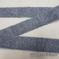 Тесьма с люрексом серая ш-4см в стиле Fabiana Filippi - итальянские ткани Тессутидея