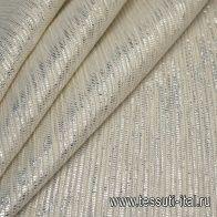 Шанель с люрексом (н) серебрянно-молочная - итальянские ткани Тессутидея