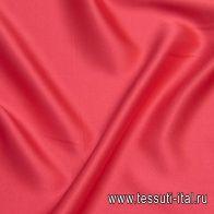 Шелк атлас стрейч (о) красно-розовый - итальянские ткани Тессутидея