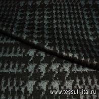 Пальтовая жаккард (н) черно-серая ш-150см - итальянские ткани Тессутидея арт. 09-1171