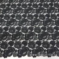 Кружевное полотно (о) черное в стиле Scervino - итальянские ткани Тессутидея арт. 03-6514