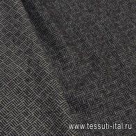 Костюмная дабл (н) черно-белый орнамент Lanificio - итальянские ткани Тессутидея арт. 05-4048