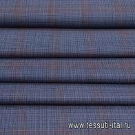 Костюмная (н) сине-коричневая клетка - итальянские ткани Тессутидея арт. 05-4010