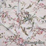 Плательная вискоза (н) растительный принт на белом - итальянские ткани Тессутидея