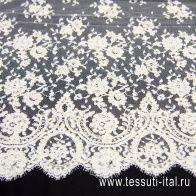 Кружевное полотно кордовое (о) слоновая кость - итальянские ткани Тессутидея арт. 03-6468