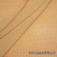 Органза (н) бело-коричневая клетка в стиле Fendi - итальянские ткани Тессутидея арт. 10-2202