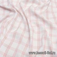 Хлопок (н) красно-белая клетка - итальянские ткани Тессутидея