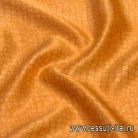Шелк атлас купон (1м) (н) оранжевая рептилия - итальянские ткани Тессутидея