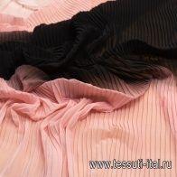 Плиссе деграде (о) от розового к черному в стиле Mc queen - итальянские ткани Тессутидея
