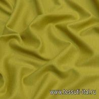 Трикотаж шерсть дабл (о) лаймовый - итальянские ткани Тессутидея