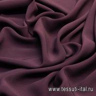 Плательная кади стрейч (о) темно-бордовая - итальянские ткани Тессутидея