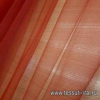 Плательная сетка (о) красная - итальянские ткани Тессутидея