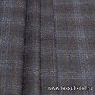 Костюмная твид (н) сине-коричневая клетка - итальянские ткани Тессутидея арт. 05-4012