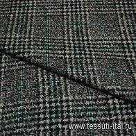Костюмная (н) черно-серо-зеленая ш-150см - итальянские ткани Тессутидея