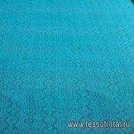Кружевное полотно (о) изумрудное  - итальянские ткани Тессутидея арт. 03-6409