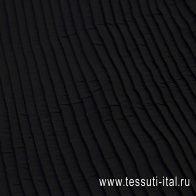 Плиссе крэш из шифона (о) черное  - итальянские ткани Тессутидея