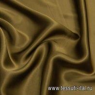 Шелк атлас (о) хаки - итальянские ткани Тессутидея арт. 10-2207