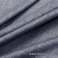 Костюмная стрейч (о) сине-белая меланж в стиле Zegna - итальянские ткани Тессутидея арт. 05-2906