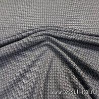 Джерси шерсть (н) серая гусиная лапка - итальянские ткани Тессутидея арт. 15-1002