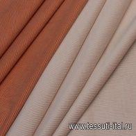 Вельвет дабл (о) оранжевый/белый - итальянские ткани Тессутидея