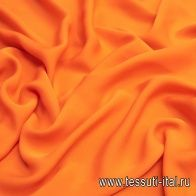 Крепжоржет (о) оранжевый - итальянские ткани Тессутидея