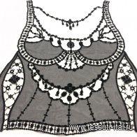 Аппликация вставка (н) черная - итальянские ткани Тессутидея