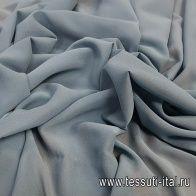 Шифон (о) серо-голубой - итальянские ткани Тессутидея