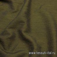 Плательная стрейч (о) хаки меланж - итальянские ткани Тессутидея