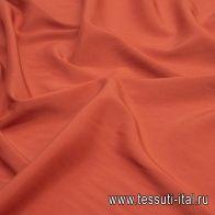 Крепдешин стрейч (о) темно-оранжевый - итальянские ткани Тессутидея