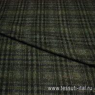 Костюмная шанель (н) черно-серо-зеленая ш-160см - итальянские ткани Тессутидея