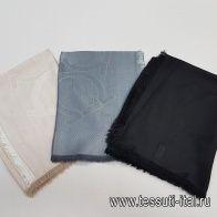 Палантин светло-бежевый, черный, серый 200**65см Salvatore Ferragamo - итальянские ткани Тессутидея арт. F-5414