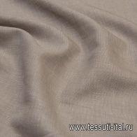 Лен (о) бежевый меланж - итальянские ткани Тессутидея