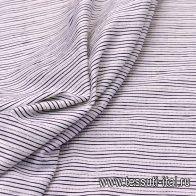 Жаккард (н) черная полоска на белом - итальянские ткани Тессутидея
