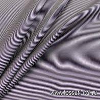 Жаккард (н) сине-белая полоска - итальянские ткани Тессутидея