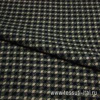 Костюмная (н) черно-бежево-серая стилизованная клетка ш-150см - итальянские ткани Тессутидея арт. 05-2163