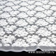 Кружевное полотно (о) белое - итальянские ткани Тессутидея арт. 03-6415