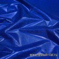 Плательная с галографическим напылением (о) ярко-синяя - итальянские ткани Тессутидея