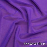 Шифон (о) темно-сиреневый - итальянские ткани Тессутидея