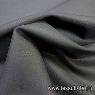 Плательная шерсть стрейч дабл (о) черная - итальянские ткани Тессутидея